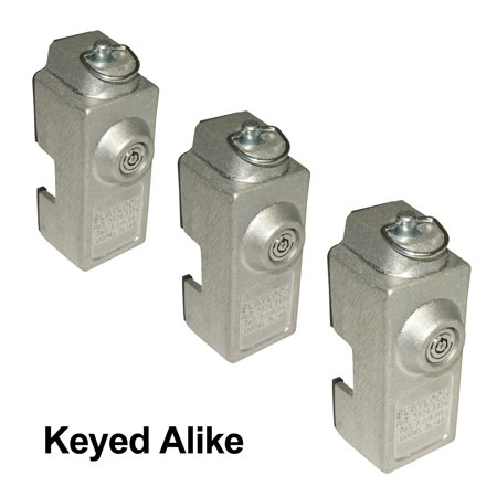 Lock Cargo Control - Blaylock DL-80 Cargo Trailer Door Lock - 3-Pack of Keyed Alike Locks