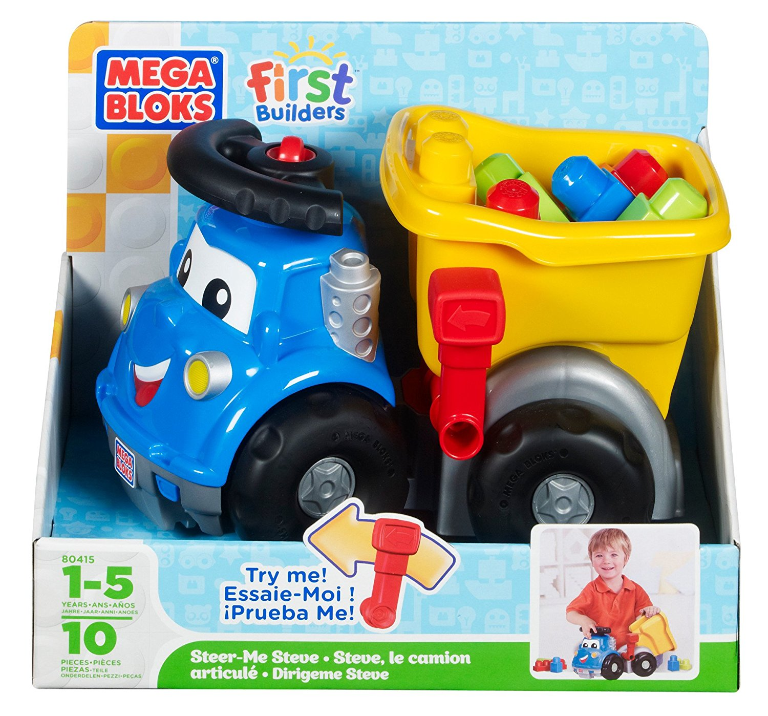 Mega Bloks Mega Brands First Builder Steer Me Steve by Mega Brands
