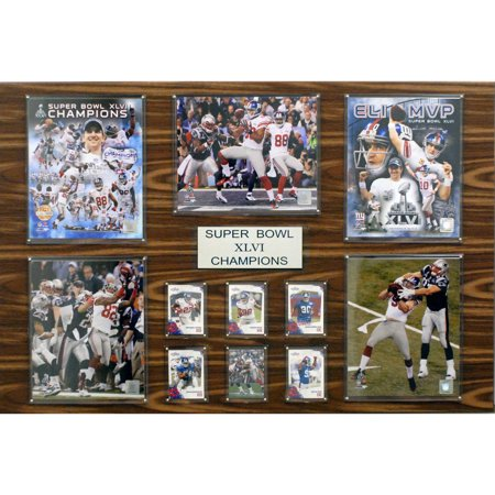 C&I Collectables NFL 24x36 New York Giants Super Bowl XLVI Champions Plaque by