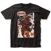 Deadpool- Here Comes Deadpool Apparel T-Shirt - Black