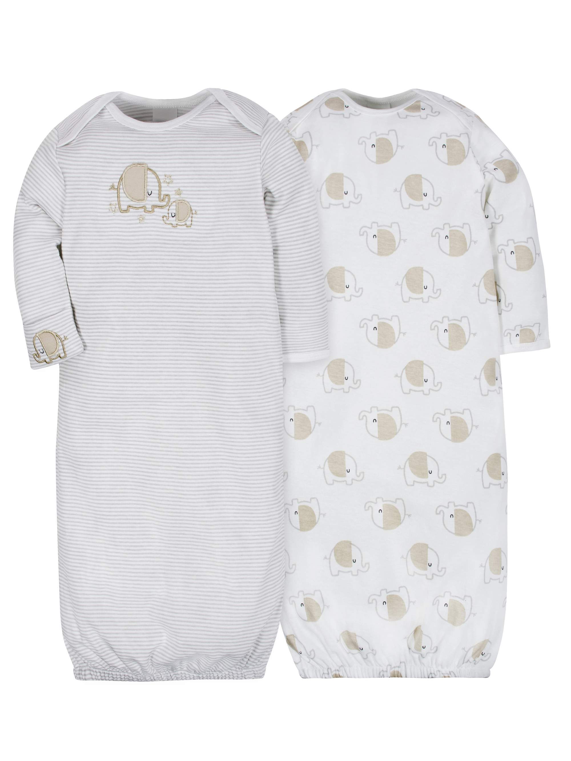 Lap Shoulder Gown, 2pk (Baby Boy or Baby Girl Unisex)