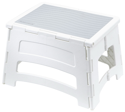 Tricam Industries RM-PL1W Folding Step Stool Plastic  sc 1 st  Walmart & Rubbermaid Large Step Stool Gray - Walmart.com islam-shia.org