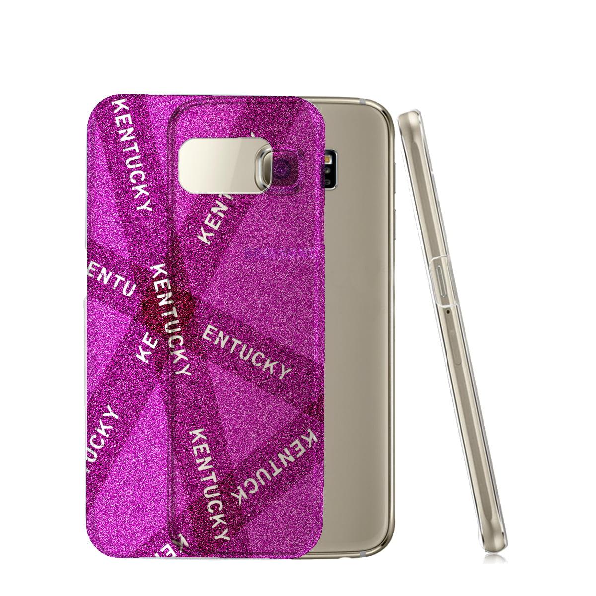 KuzmarK™ Samsung Galaxy S6 Edge Clear Cover Case - Kentucky Pink Pride