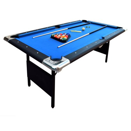 Hathaway Fairmont Portable Pool Table, 6-Ft, Blue/Black