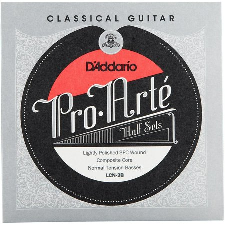 Composite Core - D'Addario LCN-3B Pro-Arte Lightly Polished Silver Plated Copper on Composite Core Classical Guitar Half Set, Normal Tension