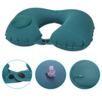 NK Inflatable Travel Pillow, Cool Travel Pillows for Airplanes Comfortable U-Shape Inflatable Neck Pillow With Head and Neck Supports for Airplanes Travel, Car, Driving