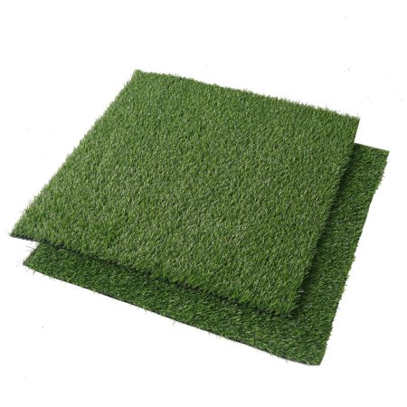 Synthetic Acrylic Rugs (Efavormart 2 Pack 4 Sq.ft Ecofriendly Artificial Synthetic Grass Mat Carpet)