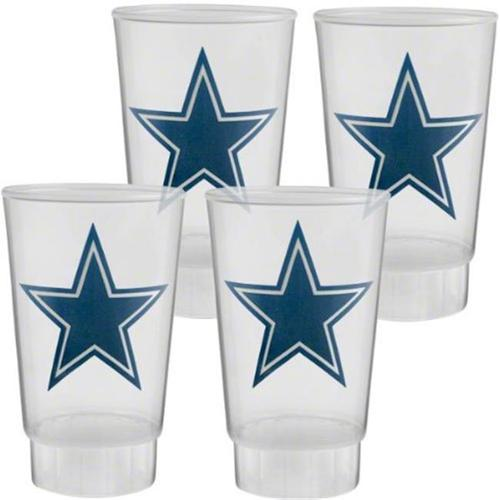 Hunter 5343-10-2100 Acrylic Tumbler 16 oz.  Set of 4 - Dallas Cowboys