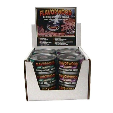 Hickory Flavor - Grilling Smoke - Reusable Flavorwood BBQ Grill Smoke in a Can (12 Can Value Pack - 4 each of Apple, Hickory, Mesquite) - Easily Infuse Natural Wood Flavor