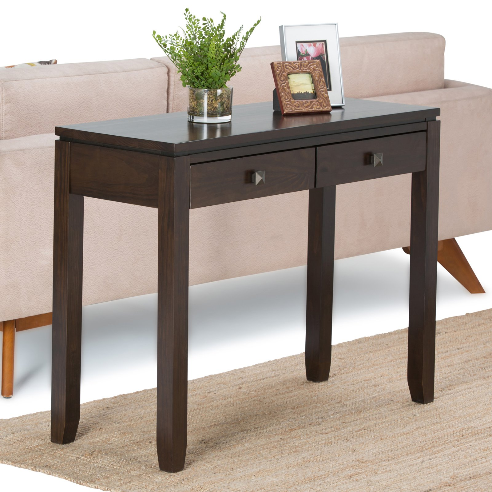Simpli Home Cosmopolitan Console Sofa Table by CCT Global Sourcing Inc