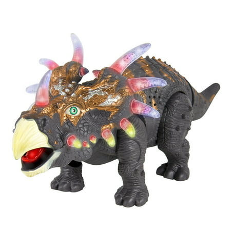 Remote Control Tyrannosaurus Rex Dinosaur Electronic RC Toy w/ Shaking Head, Walking Movement, Light Up Eyes and Sounds Christmas Gift ()