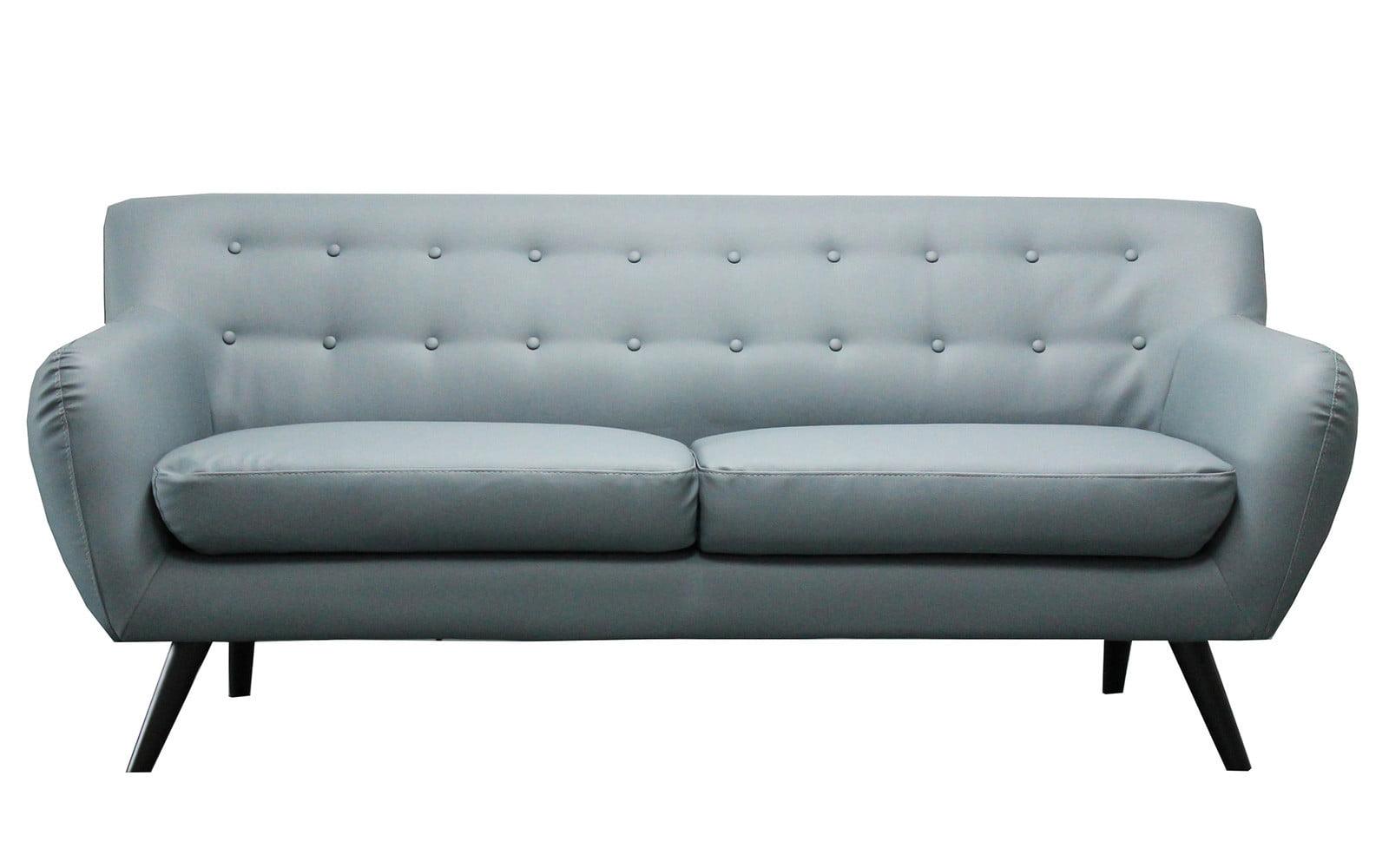 mid century modern tufted bonded leather sofa walmartcom. Interior Design Ideas. Home Design Ideas