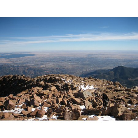 LAMINATED POSTER Mountain Colorado Springs View Pikes Peak Summit Poster Print 24 x