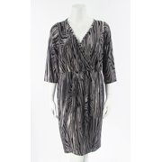 Karen Kane Pleated Women's Plus Size Wrap Dress
