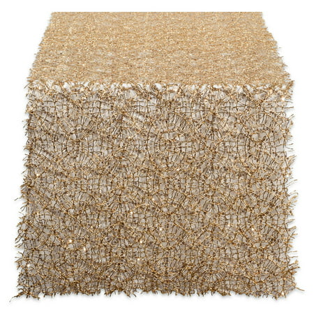 Design Imports Sequin Mesh Table Runner Roll, 120