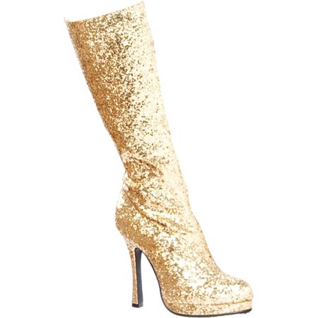 4 Inch Glitter Go Go Boots Platform Chunky Heel Sexy Glamour Boots