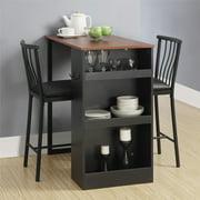 Dorel Living Isla 3 - Piece Counter Height Dining Set with Storage, Espresso