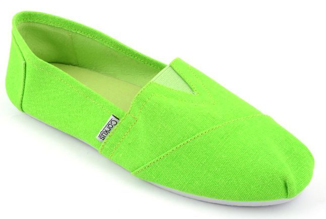 Corkys Girl's Sues Lime Green Slip-On Shoes by Corkys