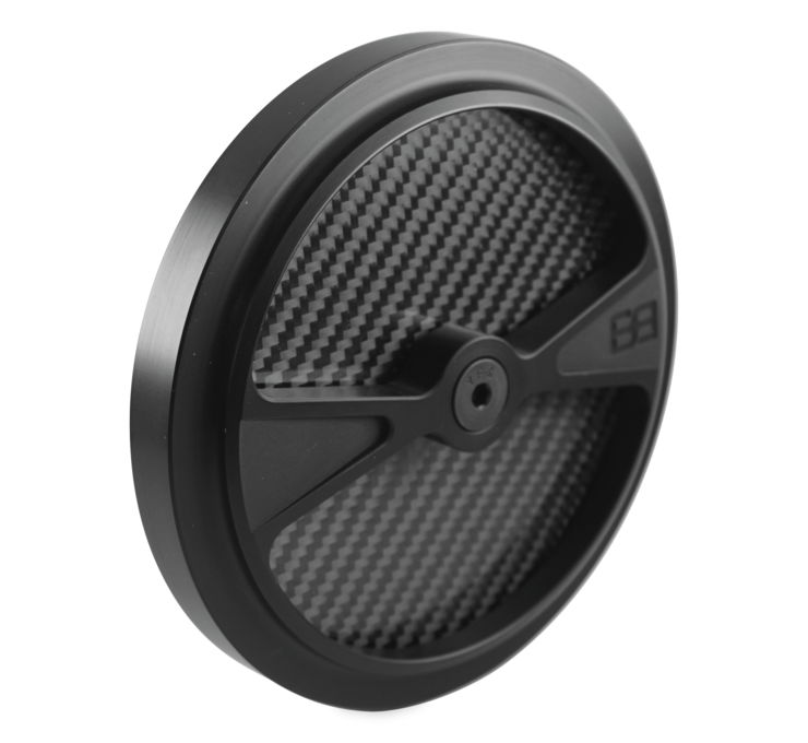 """BRASS BALLS CYCLES Air Cleaner Covers Black 5.5""""  BB03-144"""