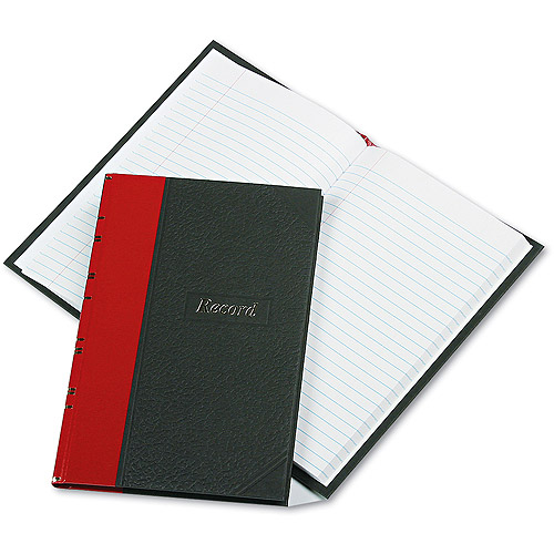Boorum & Pease Record/Account Book, 144-Page, Black/Red