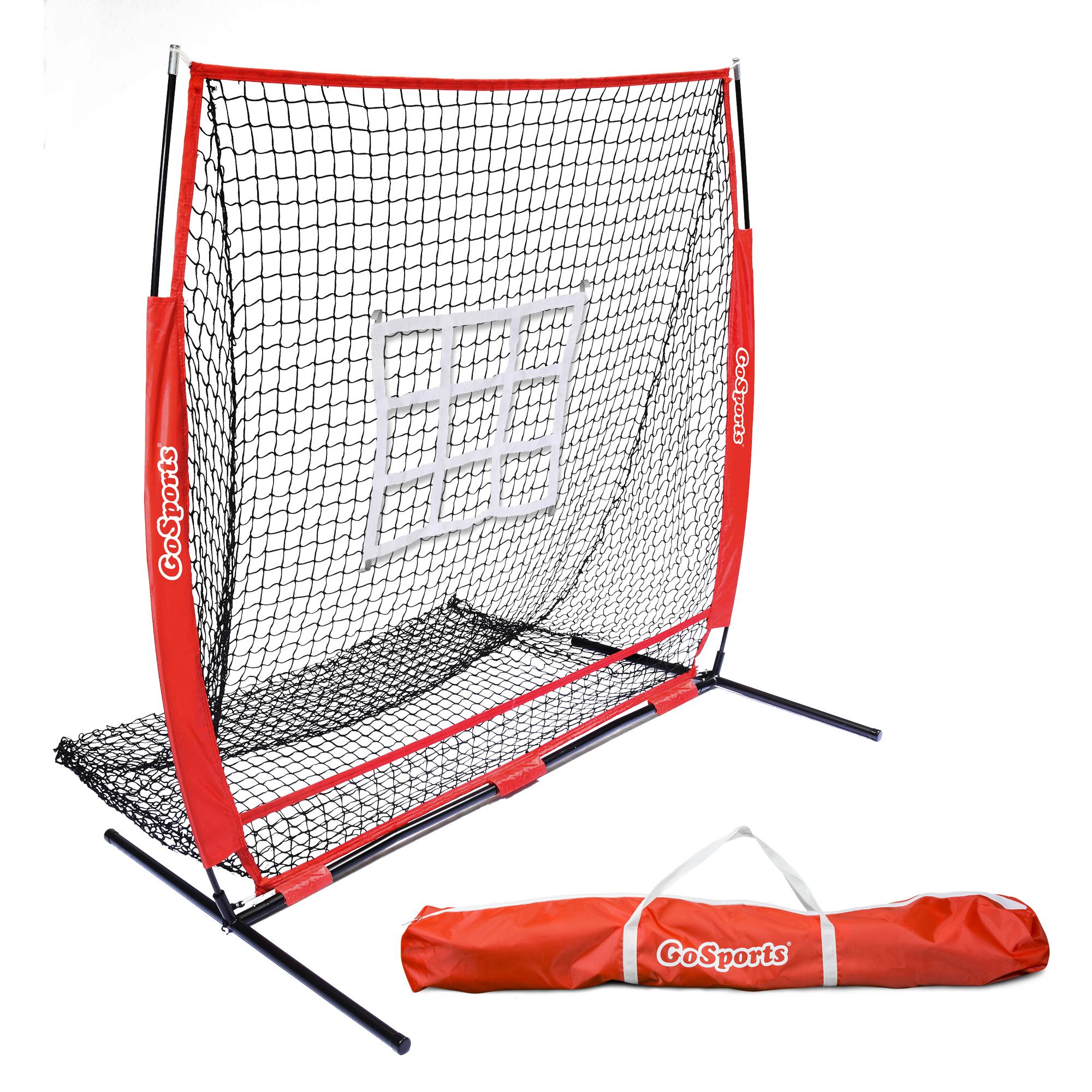 GoSports 5'x5' Baseball & Softball Practice Pitching & Fielding Net with Bonus Strike Zone