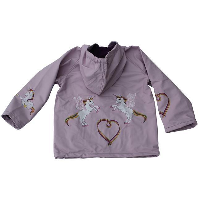 F61198021 Toddler Rain Coat with Horses by Farm Girl Purple