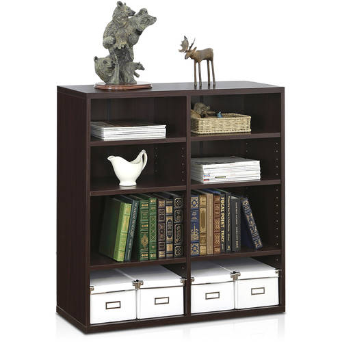 Furinno Indo Accessories Storage Shelf, Espresso