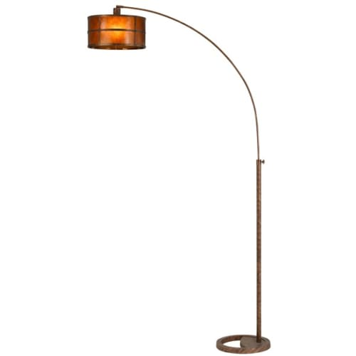 "Cal Lighting BO-2036-1L Mica Arc Single Light 83"" Tall Arc Floor Lamp with Mica by CAL Lighting"