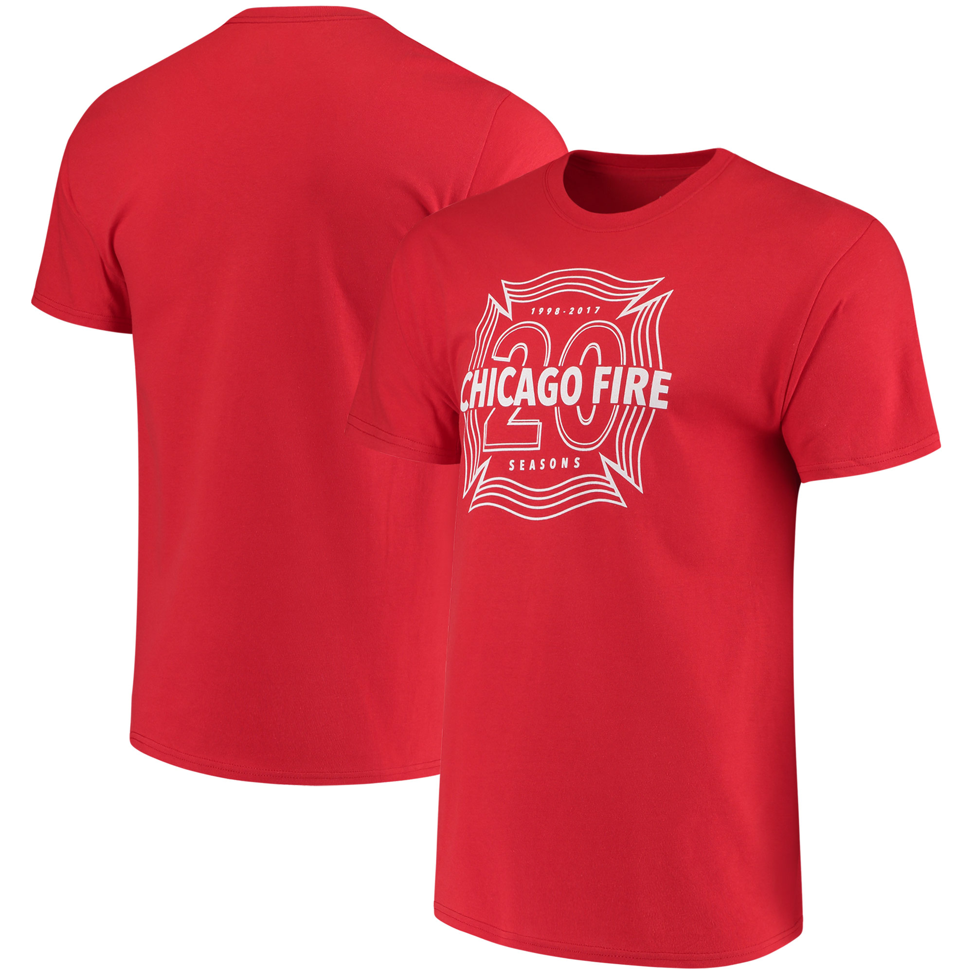 Chicago Fire Majestic 20th Season Shield T-Shirt - Red