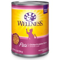 (12 Pack) Wellness Complete Health Natural Grain Free Pate Wet Canned Cat Food, 12.5 oz. Cans