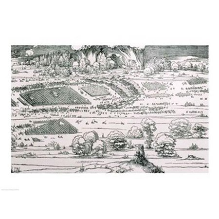 Demonstration of Defensive Measures To Protect A City Against A Besieging Army Detail Print by Albrecht Durer - 24 x 18 in. - image 1 of 1