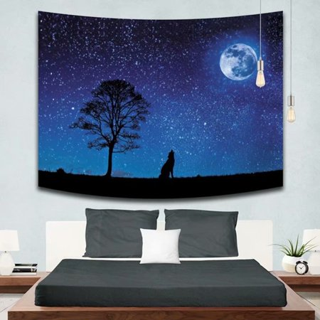 VicTsing Forest Tree Tapestry Wall Hanging Nature Scene Landscape Wall Blanket Art Home Decor for Dorm Living Room Bedroom,150*130cm Scene Wall Tapestry