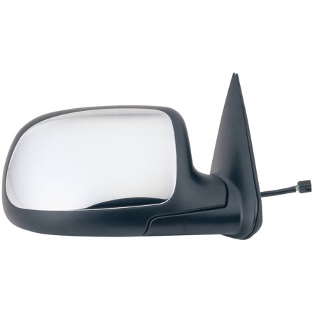62025G - Fit System Passenger Side Mirror for 00-02 Silverado, Sierra, Suburban, Tahoe, Denali XL, Yukon XL, Escalade, black w/ chrome cover, foldaway, Heated Power