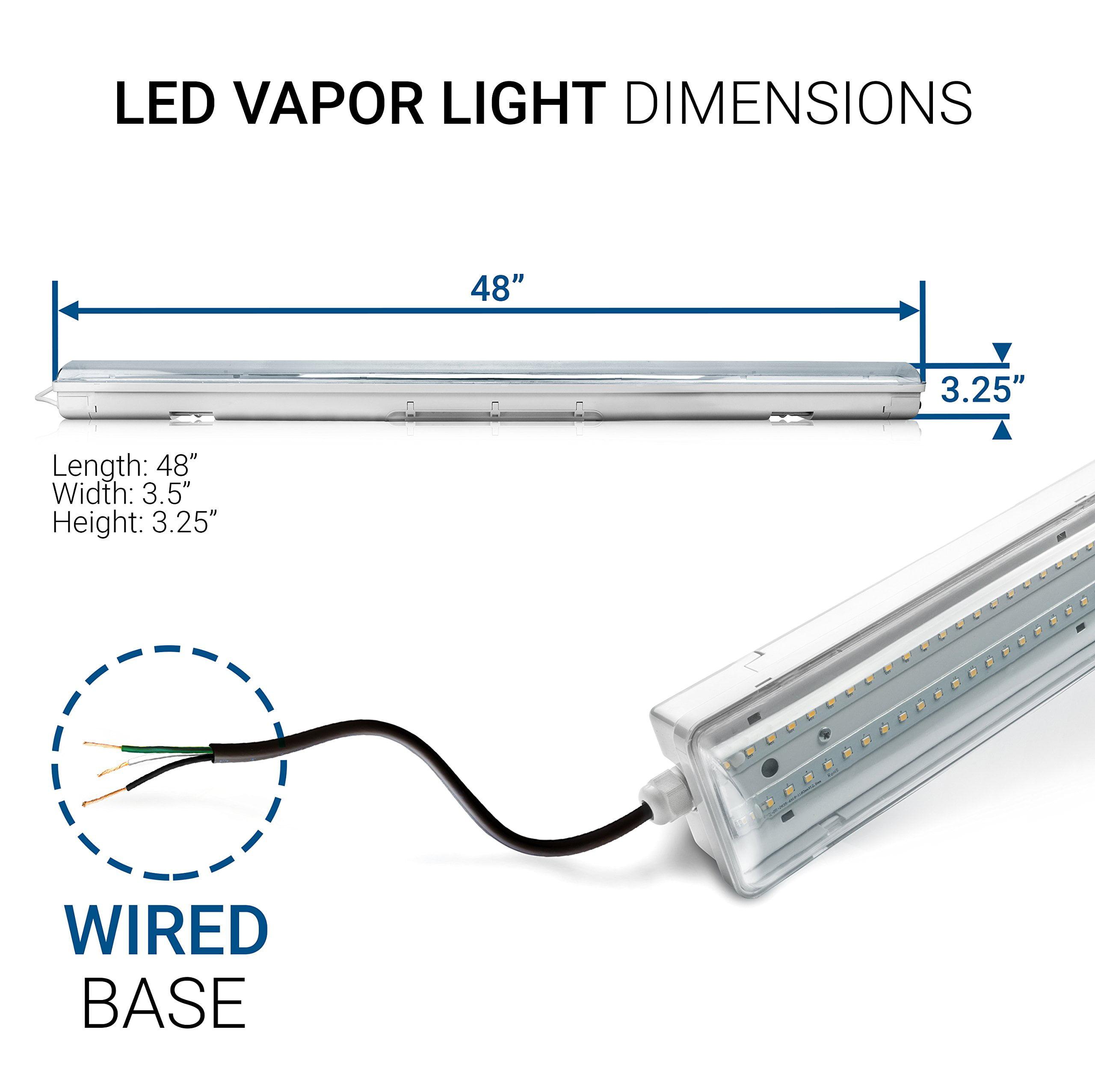 Clear Shop and Garage Lighting Hyperikon LED Vapor Proof Fixture Waterproof