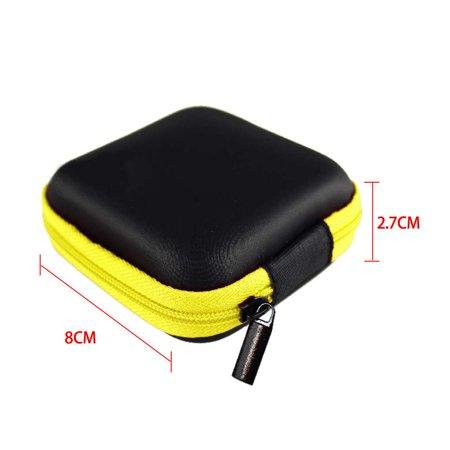 JOYFEEL 10 Pcs Fashion Pocket Pu Multi-Function Cosmetic Bag Passport Case Bag Storagebag for Headset