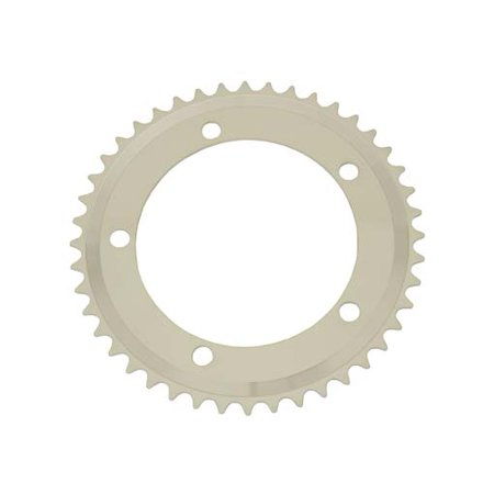 Alloy Chainring 1/2 x 1/8 44t White. for bicycles, bikes, for beach cruiser, mountain bike, track, fixies, fixed gear