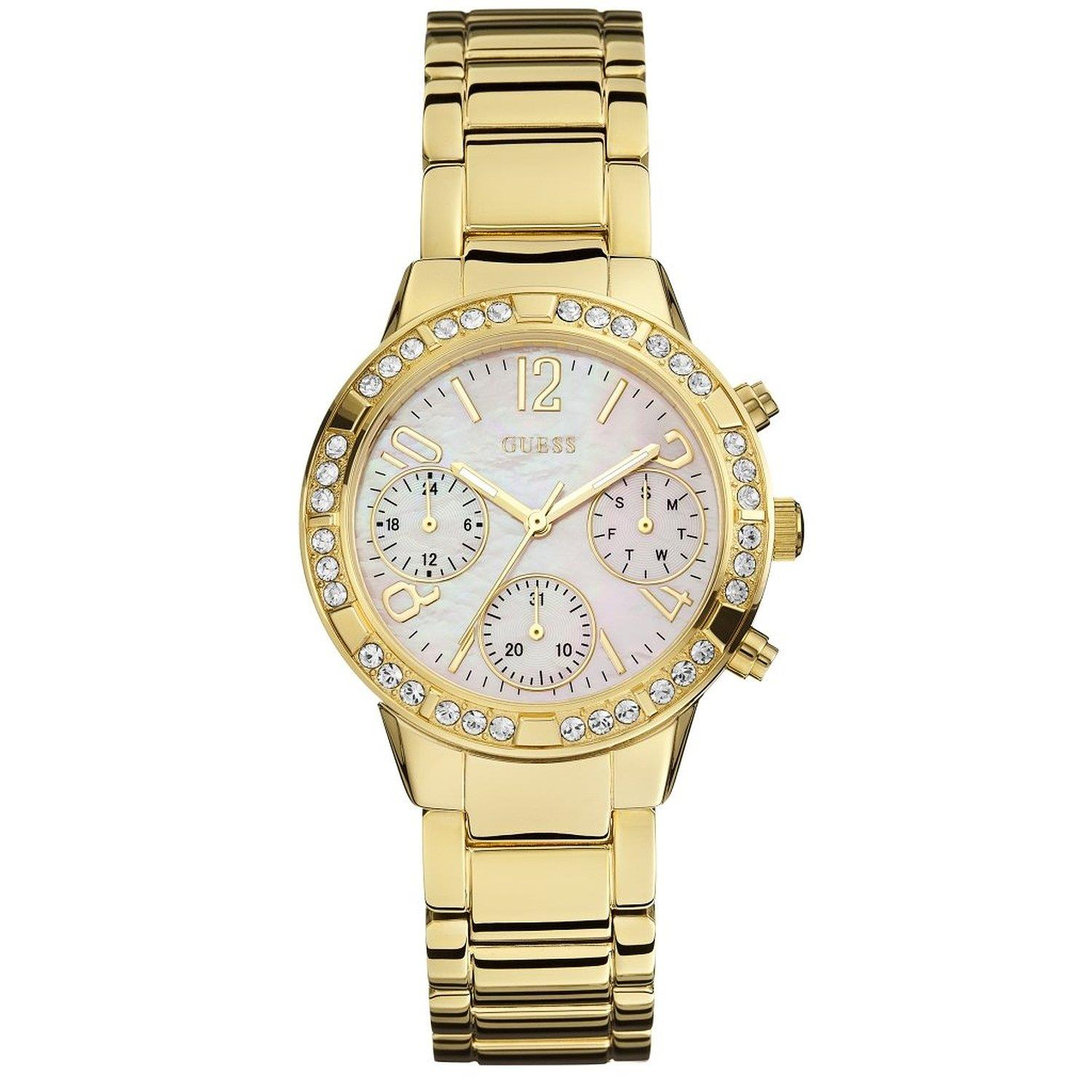 Guess MINI GLAM HYPE Chronograph Yellow Steel Bracelet & ...