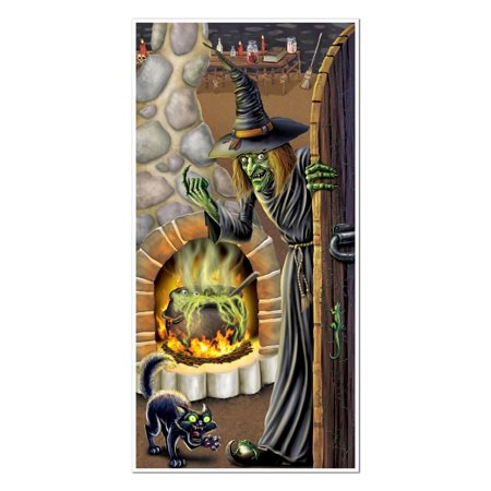 Club Pack of 12 Halloween Themed Witch's Brew Door Cover Party Decorations 5'](Office Halloween Party Themes)