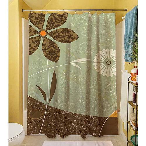 "Thumbprintz Graphic Garden Sadie Shower Curtain, 71"" x 74"