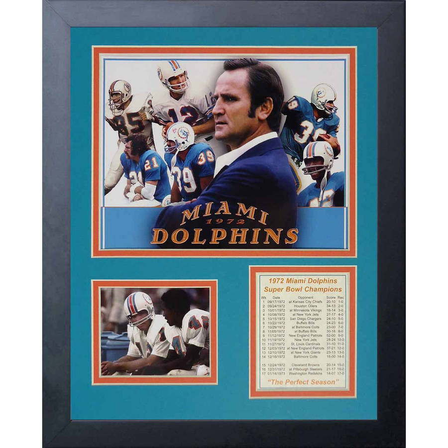 "Legends Never Die 1972 Miami Dolphins Framed Photo Collage, 11"" x 14"""