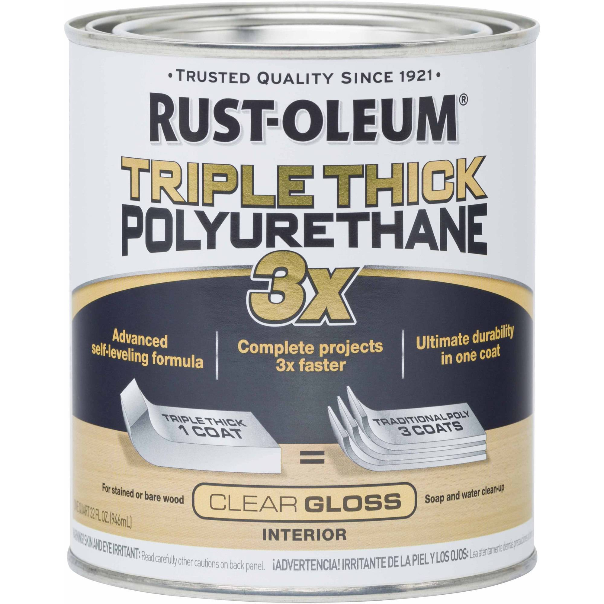 Rust-Oleum Triple Thick Polyurethane Quart, Gloss