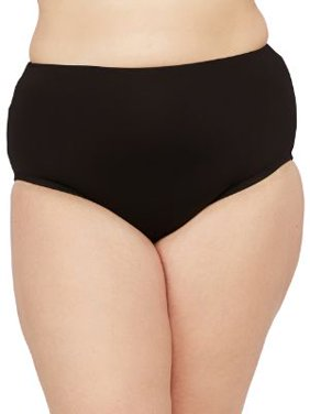 24th & Ocean Womens Plus Size Solids High-Waist Bikini Bottom Style-TF9G693W