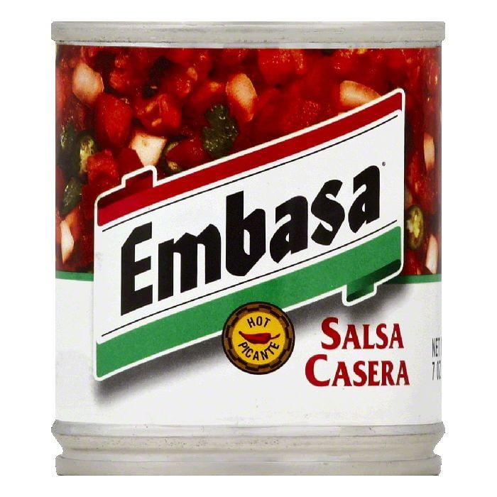 (5 Pack) EMBASAasa Salsa, Casera, Hot, 7 Oz