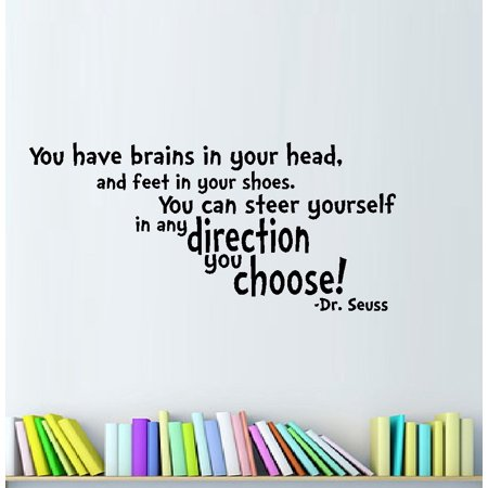 Decal ~ You have brains in your head:  WALL  DECAL, Dr. Seuss Theme HOME DECOR 11
