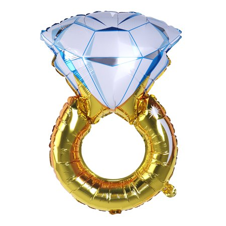 Diamond Ring Balloon Romantic Wedding Bridal Shower Anniversary, Engagement Party Decoration - Size M