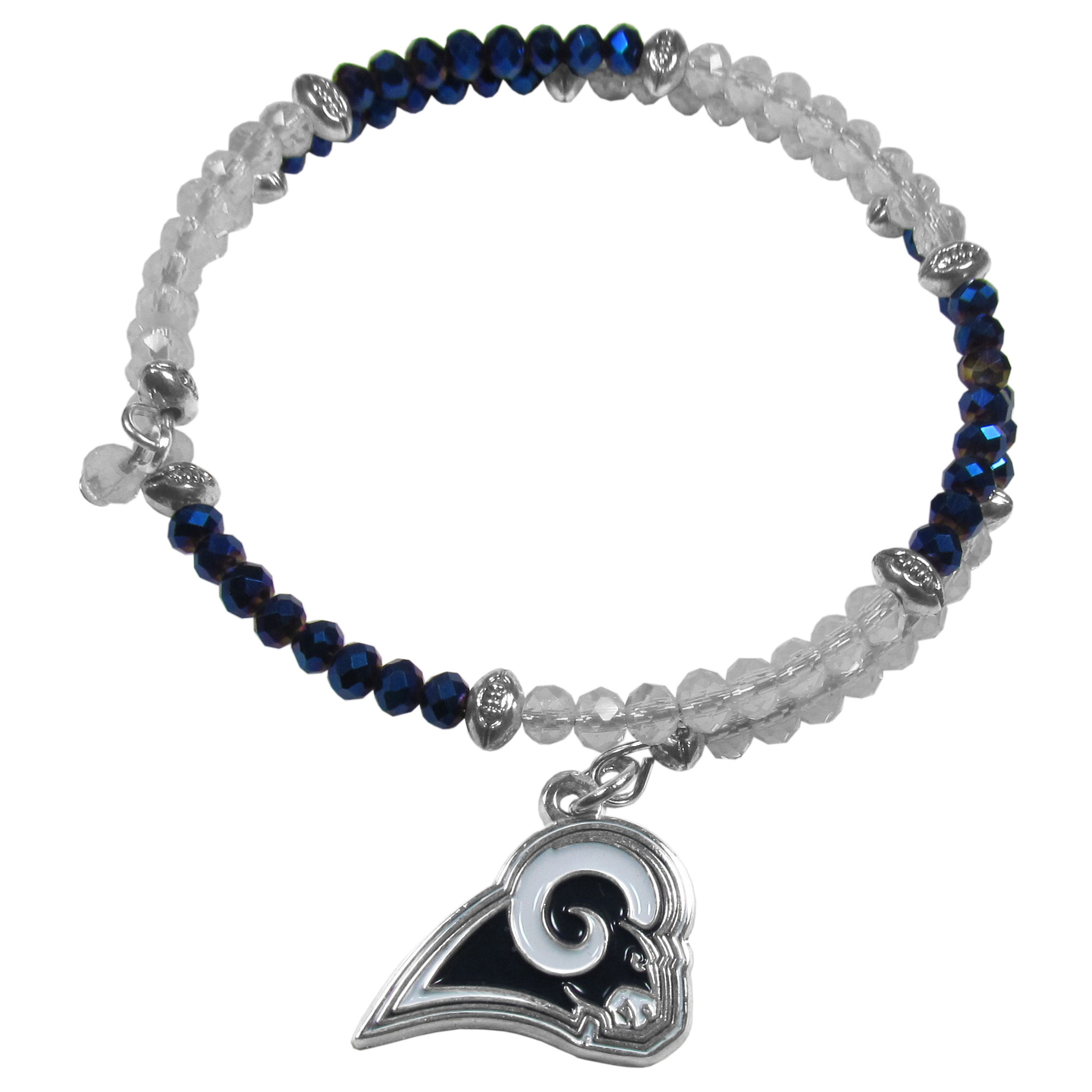 NFL Los Angeles Rams Crystal Bracelet