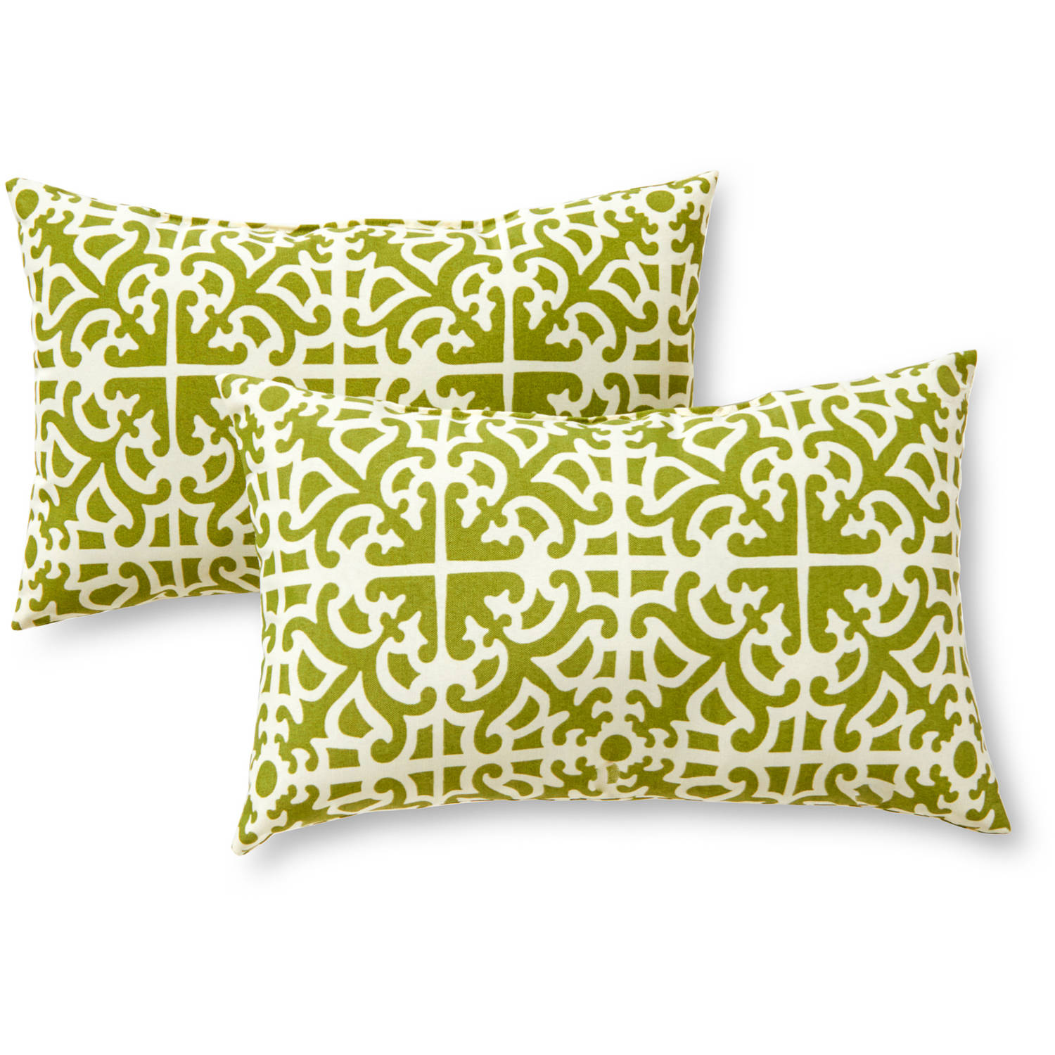 Greendale Home Fashions Rectangle Outdoor Accent Pillows, Set Of 2, Grass