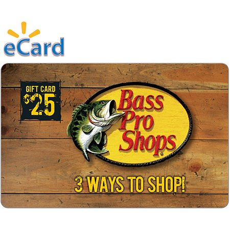 Bass Pro Shop $25 Gift Card (email delivery) (Itunes Gift Card By Email)