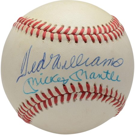 Mickey Mantle & Ted Williams Autographed Vintage Baseball - BAS A68218 Graded 9 & 9 - Fanatics Authentic