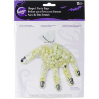 """Shaped Bags 7.5""""X10"""" 15/Pkg-Clear Hand"""
